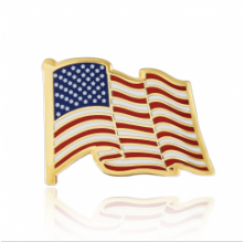 Stock American flag lapel pins (S105)