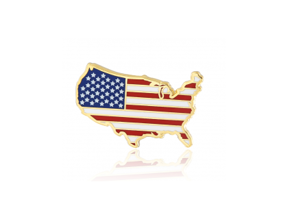 Stock American flag lapel pins S106