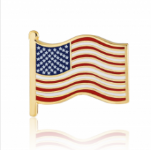 Stock American flag lapel pins (S108)