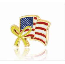 Stock American flag lapel pins (S109)