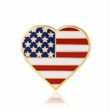Stock American flag lapel pins (S112)