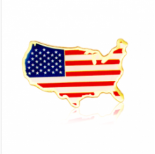 Stock American Flag Lapel Pins (S128)