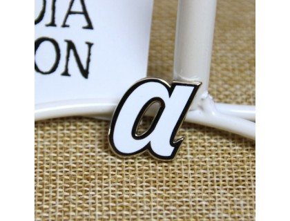 Hard Enamel Pins for Letter a