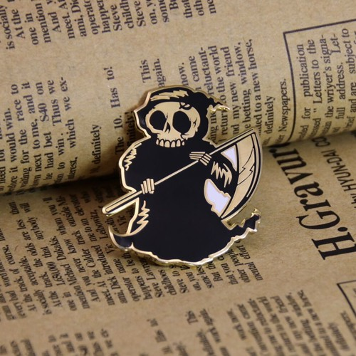 Lapel pins  Human Skeleton Pins  Hard Enamel Pins