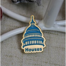 Soft Enamel Lapel pins for Blue Houses