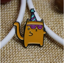 Soft Enamel Lapel pins for Orange Cat