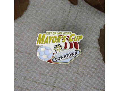Soft Enamel Pins for Mayor's Cup