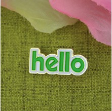 Soft Enamel Lapel Pins for Hello