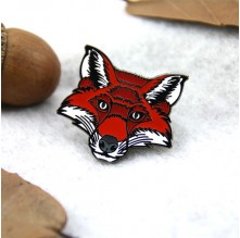 Hard Enamel pins for Red Fox