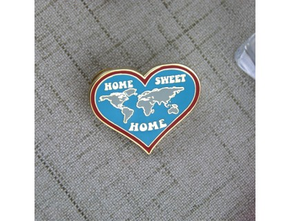Hard Enamel Pins for World Map