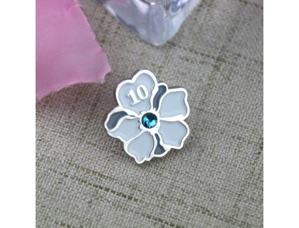Soft Enamel Pins for Flower