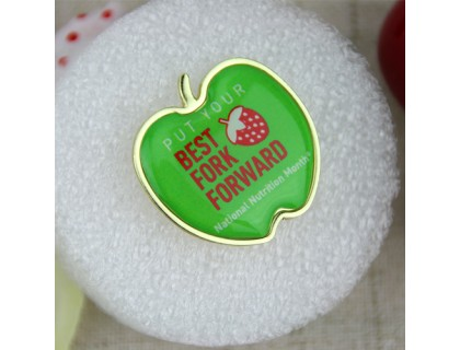 Custom Made Lapel Pins for Green Apple