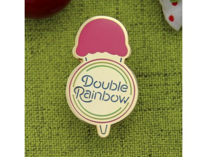 Double Rainbow Custom Lapel Pins