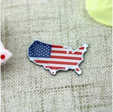 Custom Lapel Pins for American Map