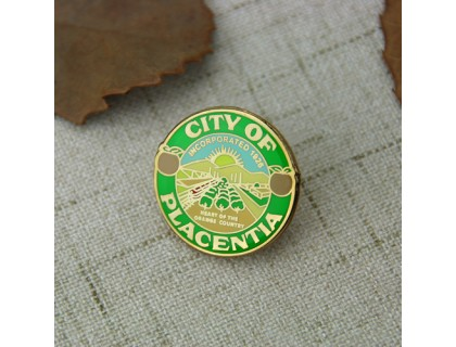 Lapel pins for Placentia
