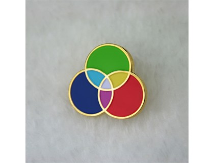Lapel Pins for Three Primary Colors