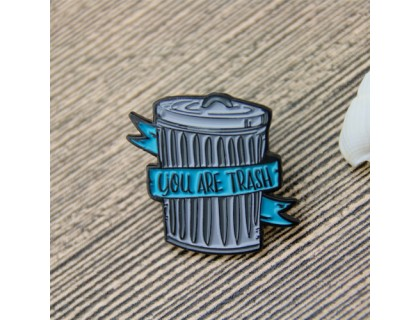 Lapel Pins for Trash Can