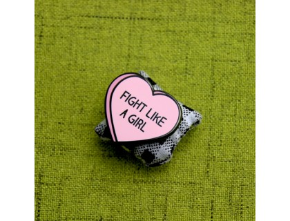 Custom Lapel Pins for Fight Like A Girl