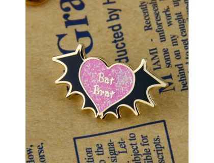Bat Brat Personalized Pins