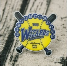 Wizards Baseball Trading Pins