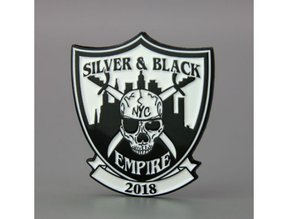 Silver and Black Empire Custom Pins