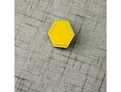 Enamel Quality Lapel Pins for Hexagon