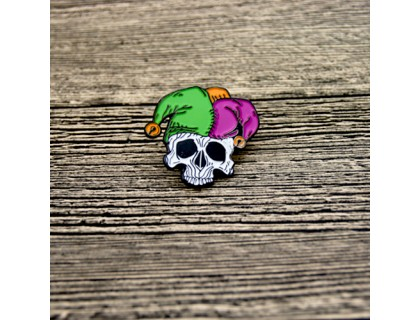 Soft Custom Enamel Pins for Skull Wearing a Hat