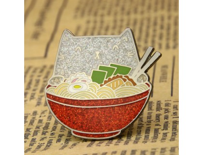 Ramen Cat Custom Enamel Pins