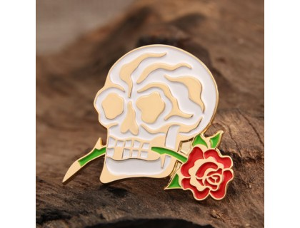 Skull and Flower Custom Lapel Pins