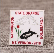 Convention metal lapel pins