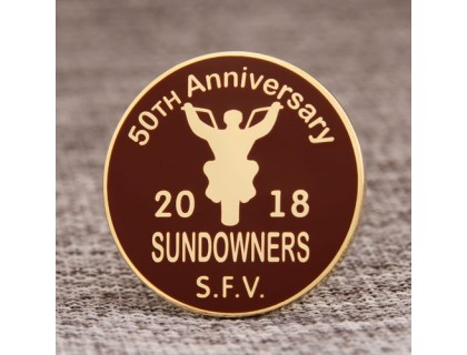 50th Anniversary custom pins