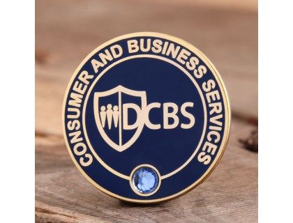 DCBS custom lapel pins