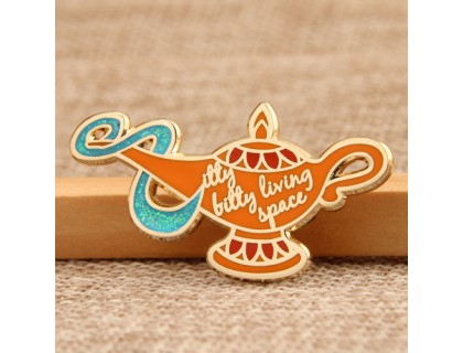 Aladdin's lamp custom lapel pins
