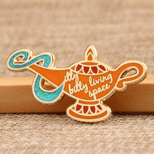 Custom metal pins | Aladdin's lamp custom lapel pins - GS-JJ com ™