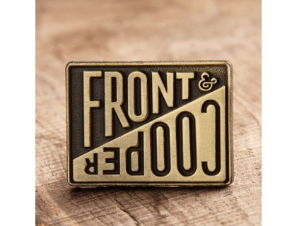 Front & cooper custom lapel pins