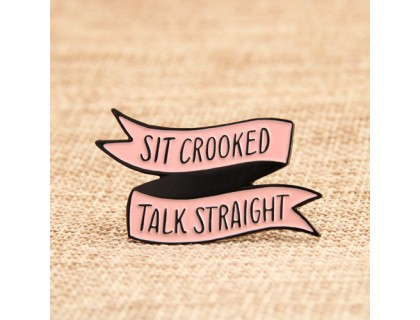 Soft Enamel Pins for Old Saying