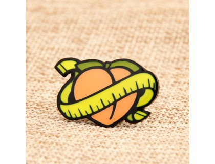 Peach Personalized Pins