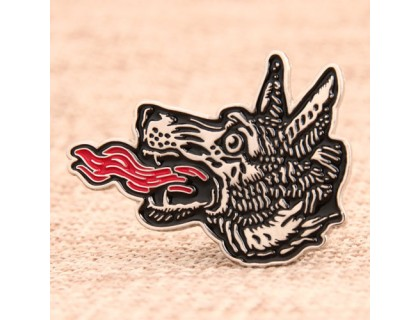 Wolf Head Custom Lapel Pins