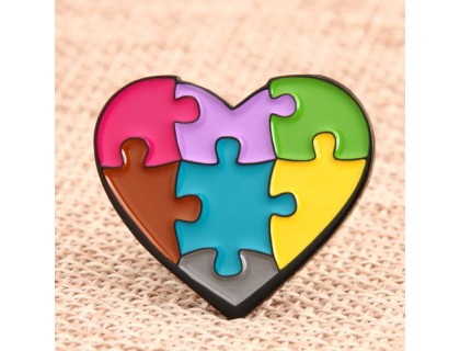 Love Jigsaw Personalized Pins