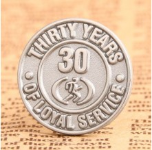 30 Years Custom Lapel Pins