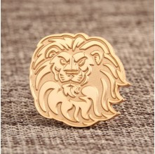 Lion Custom Lapel Pins Small Quantity