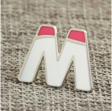 Capital Letter Custom Pins No Minimum