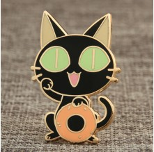 Donut Cat Lapel Pins No Minimum
