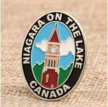 Oval Bell Tower Lapel Pin Maker Online