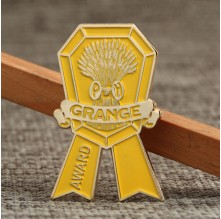 Gold Grange Medal Lapel Pins No Minimum