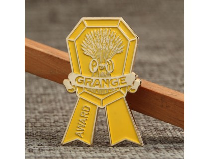 Custom Pins Cheap | Gold Grange Medal Lapel Pins No Minimum