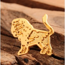 Gold Lion Custom Enamel Pins No Minimum