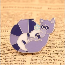 Purple Skunk Lapel Pins No Minimum